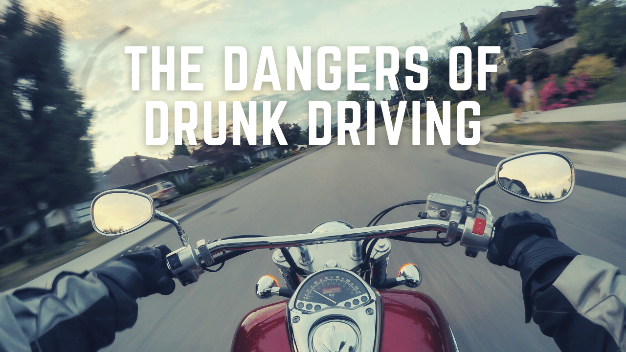 What are the dangers of riding a motorcycle while under the influence?